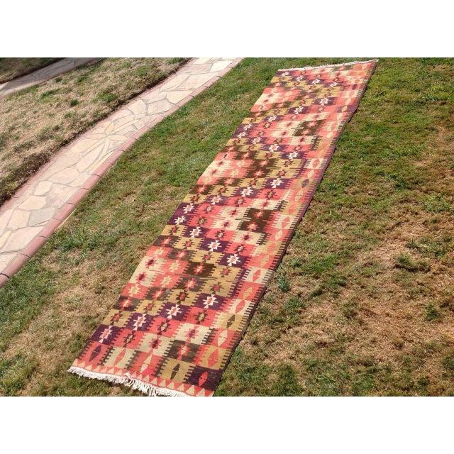 Islamic Vintage Turkish Kilim Runner - 3′1″ × 10′7″ For Sale - Image 3 of 7