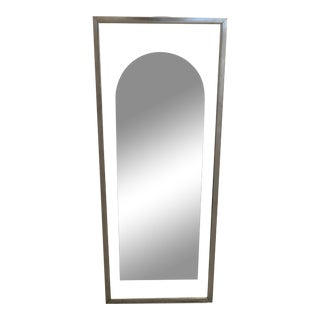1970s Sculptors Guild Modern Style Floating Arched Mirror For Sale