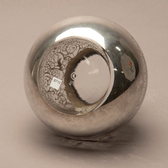 1950s Round Silver Overlay Vase For Sale In Detroit - Image 6 of 7