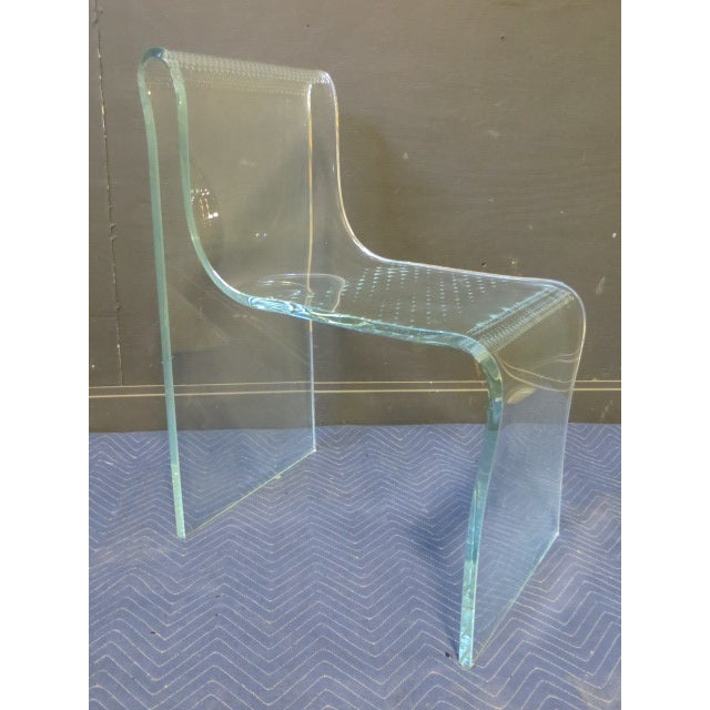1980s 1980s Vintage Fiam Glass Ghost Chair For Sale - Image 5 of 12