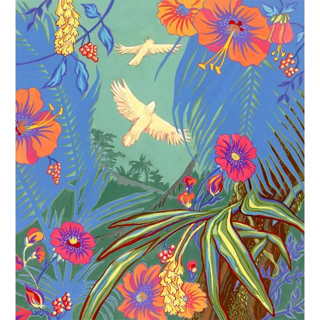 Tropical Bird 3 Original Painting For Sale