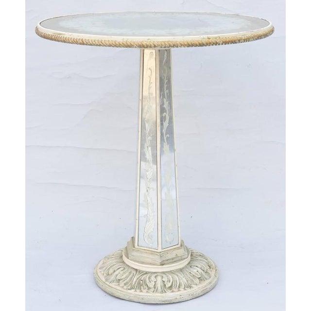 Italian Italian Églomisé Occasional Pedestal Table For Sale - Image 3 of 12