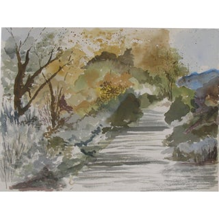 """""""The Path"""" Watercolor For Sale"""