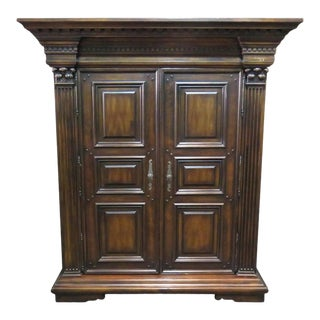 Antique Design Tv Entertainment Cabinet English Armoire Wardrobe For Sale