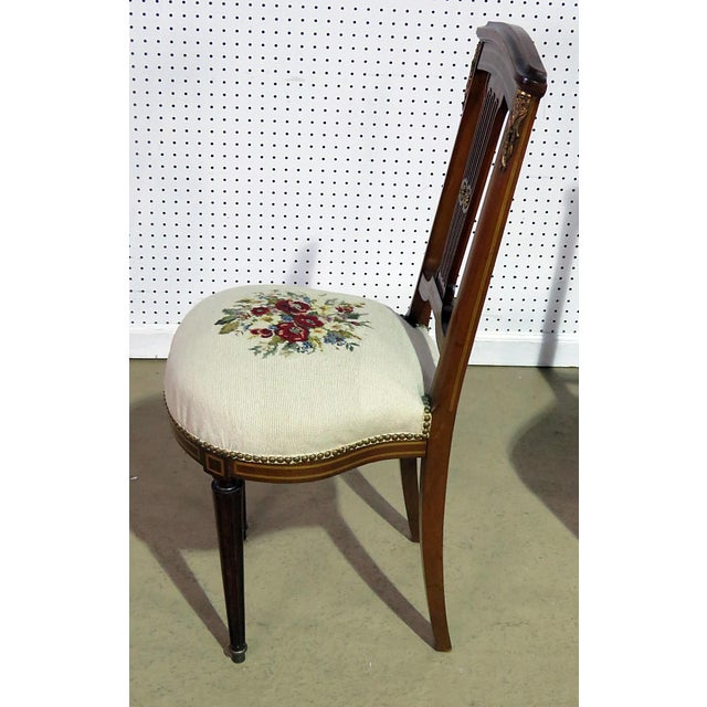 Textile Pair of Directoire Style Slipper Chairs For Sale - Image 7 of 8