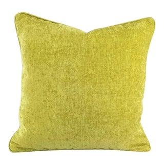 Jane Churchill Palma Lime Self-Welt Pillow Cover For Sale