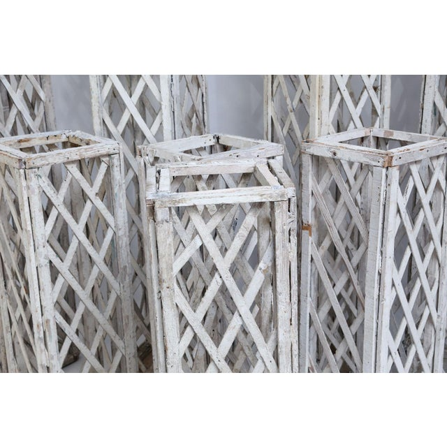 Vintage French Painted Trellis For Sale In Houston - Image 6 of 13