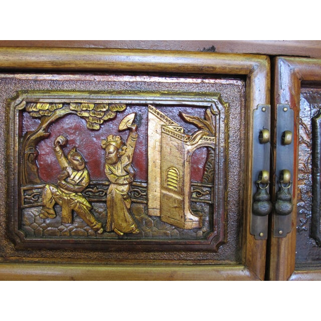 Crane & Phoenix Motif Cabinet For Sale - Image 9 of 10