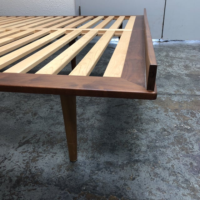 Wood Herman Miller Nelson Walnut Thin Edge King Bed For Sale - Image 7 of 11