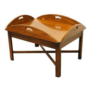Lane Furniture Solid Cherry Butler's Coffee Table For Sale