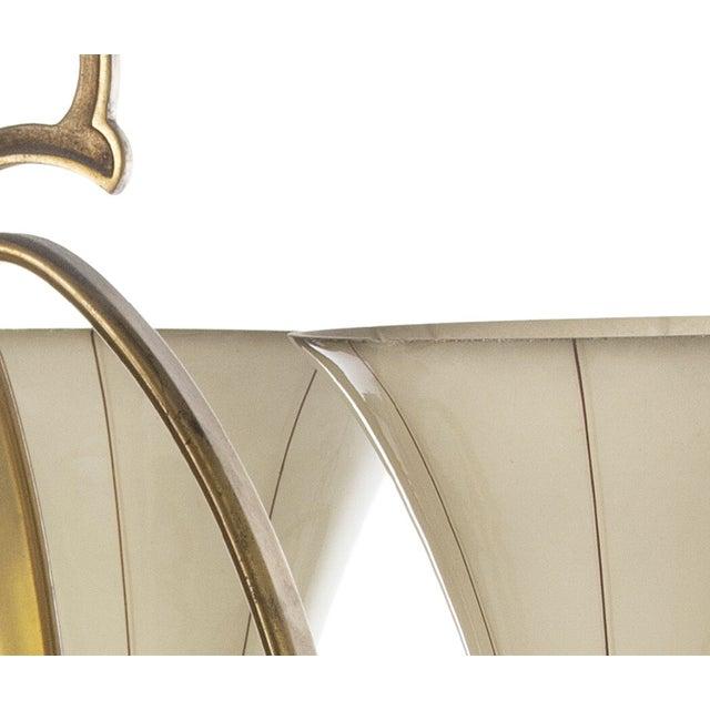 Art Deco Art Deco Opaline Glass Chandelier For Sale - Image 3 of 6