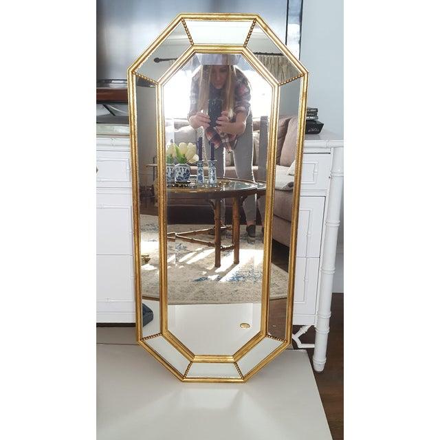 Vintage La Barge Italian Gilt Wood Octagonal Gold Beveled Mirror - Image 7 of 8