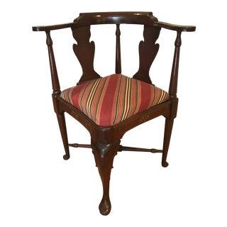 1970s Vintage Bi-Centennial Mahogany Corner Chair