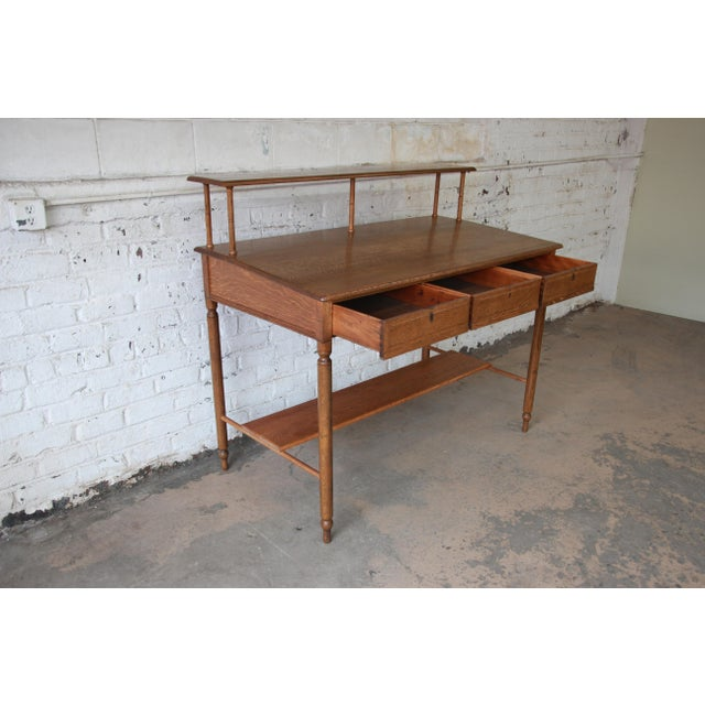 Antique Quarter Sawn Oak Railroad Standing Desk - Image 8 of 11 - Antique Quarter Sawn Oak Railroad Standing Desk Chairish