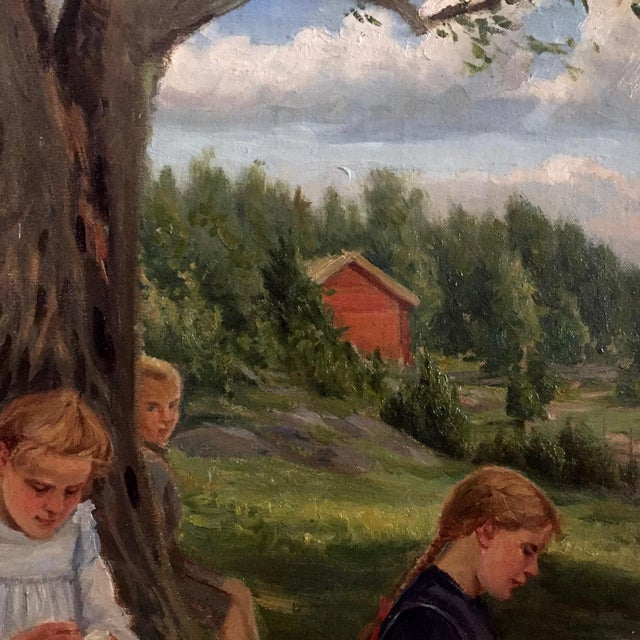 Country 19th Century Swedish Painting by Bror Tycho Ödberg For Sale - Image 3 of 12
