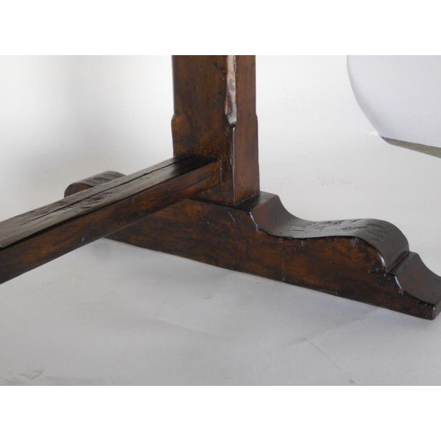 American Classical Custom Trestle Table For Sale - Image 3 of 6