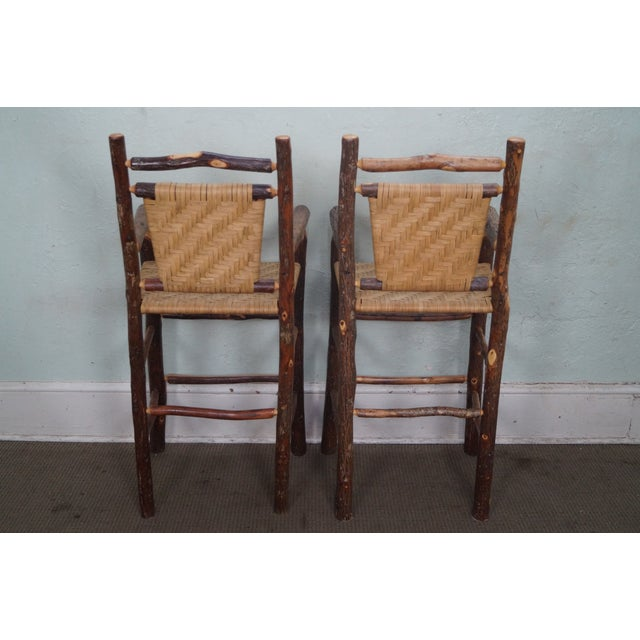 Old Hickory Rustic Barstools - Set of 3 - Image 4 of 10