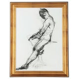 Image of Soicher Marin Black and White Figure Framed Offset Lithograph Print For Sale