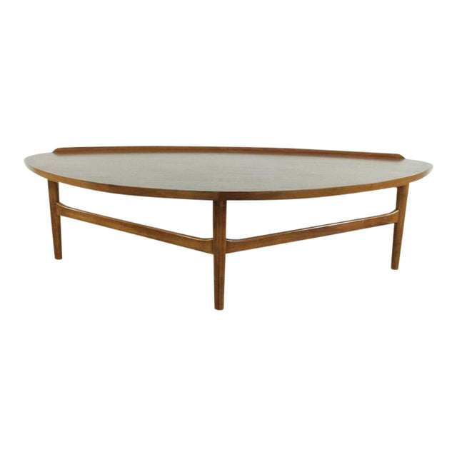 Mid-Century Modern Finn Juhl Teak Coffee Table For Sale