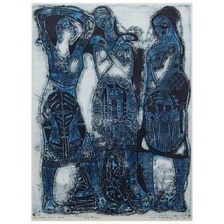 Bruce Onobrakpeya Ekpaen Mue'li Rame Print For Sale