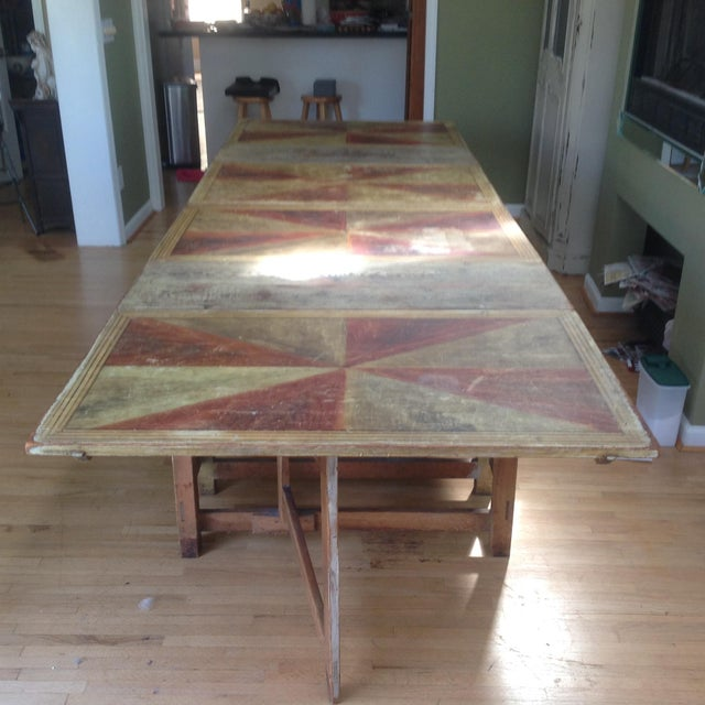 Gold & Amber Gustavian Dining Table - Image 7 of 9