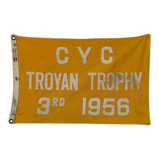 1956 Historic Cleveland Yacht Club Trophy Winning Boat Flag