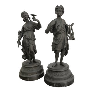 Late 19th Century Antique Grand Tour Collection Statues - a Pair For Sale