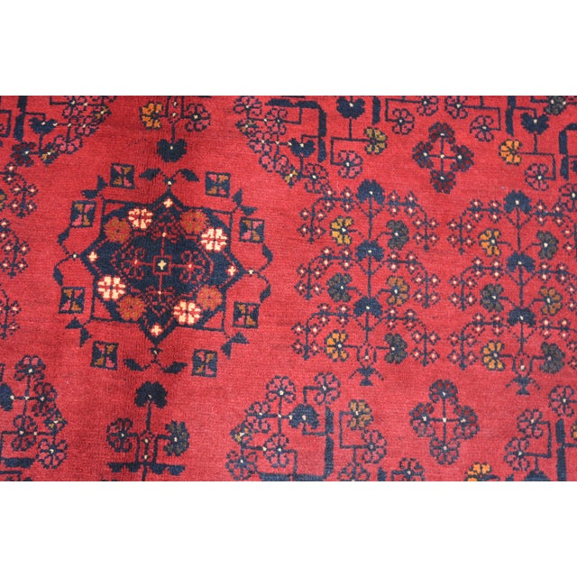 2020s Afghan Tribal Red Rug For Sale - Image 5 of 9