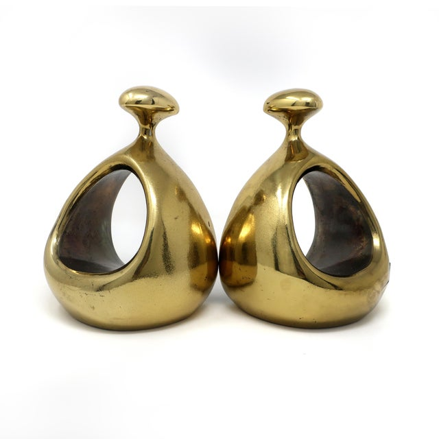 Pair of Ben Seibel Brass Bookends For Sale - Image 10 of 10