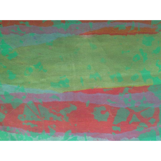 Paper Mid Century Abstract Silkscreen Bay Area Female Artist For Sale - Image 7 of 8
