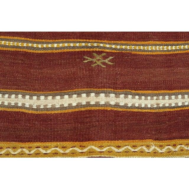 Anatolian Kilim Tribal Turkish Kilim Rug-4′8″ × 6′1″ For Sale - Image 6 of 13