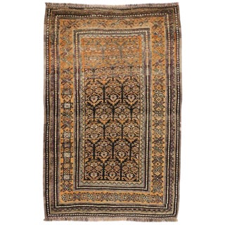Vintage Shiraz Persian Tribal Rug With Mid-Century Modern Style - 3'6 X 5'4 For Sale
