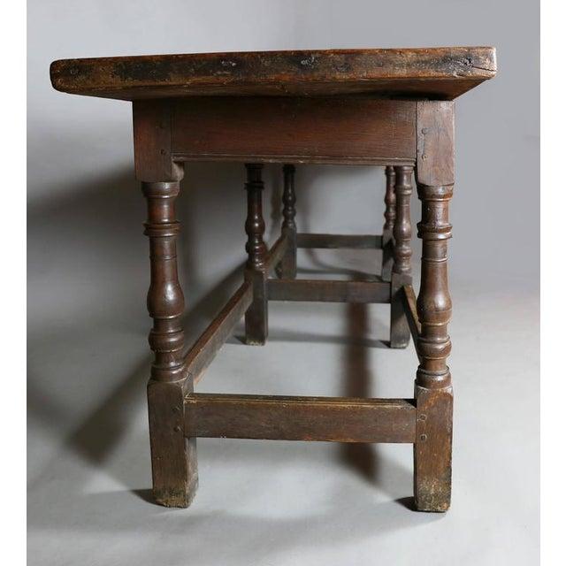Jacobean Jacobean Oak Refectory Table For Sale - Image 3 of 10