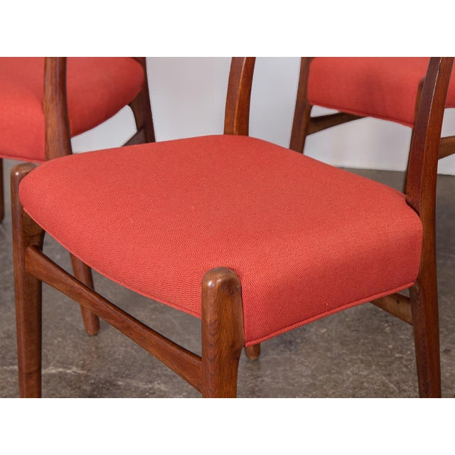 Red Set of Six Hans J. Wegner Ch-23 Dining Chairs For Sale - Image 8 of 11