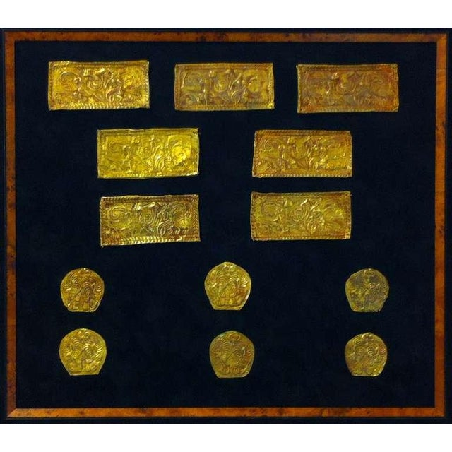 Asian Set of Ordos Culture Gold Plaques For Sale - Image 3 of 7