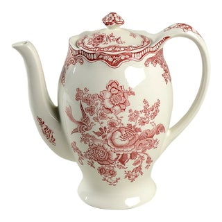 Crown Ducal Bristol Pink Coffee Pot & Lid For Sale