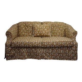 Cowtan & Tout Safari Upholstered Sofa w Pillow