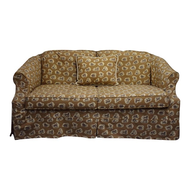 Cowtan & Tout Safari Upholstered Sofa w Pillow - Image 1 of 9