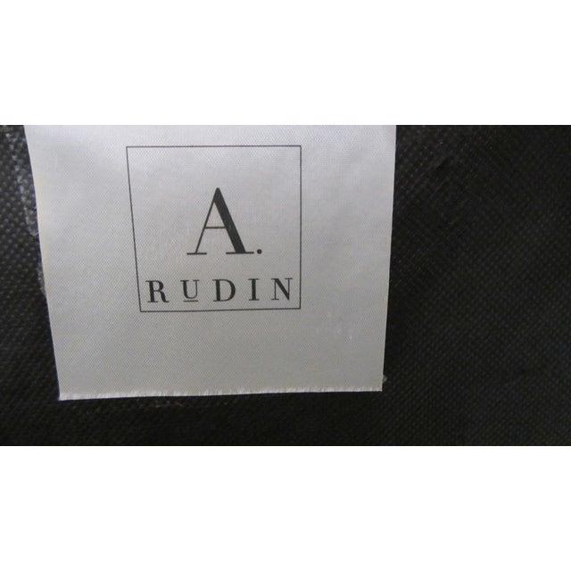 A. Rudin Velvet Stripe Lounge Chair - Image 9 of 9