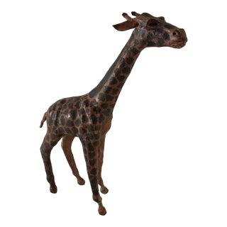 Vintage Paper Mache Giraffe For Sale