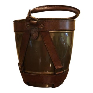 Leather Handle Champagne Ice Bucket For Sale