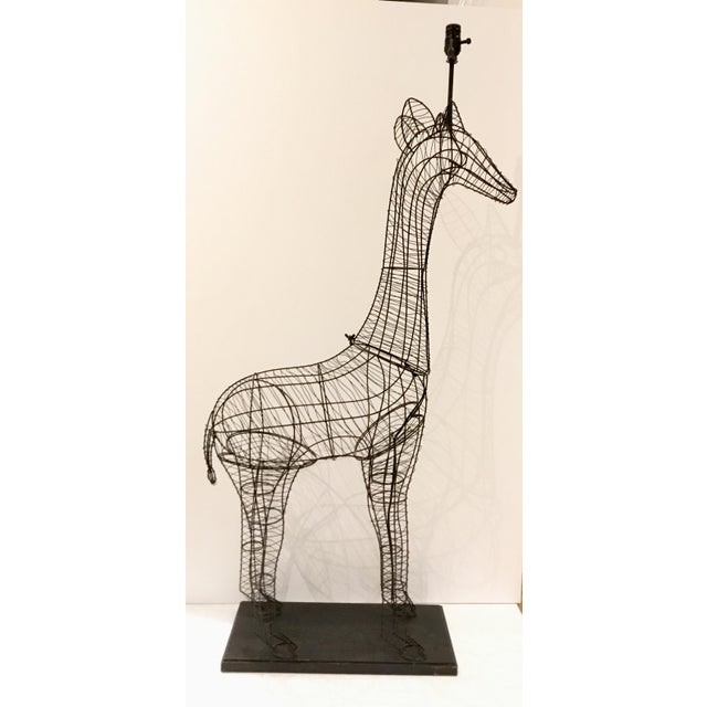 Large Modern Giraffe Wire Sculptural Floor Lamp For Sale In Atlanta - Image 6 of 6