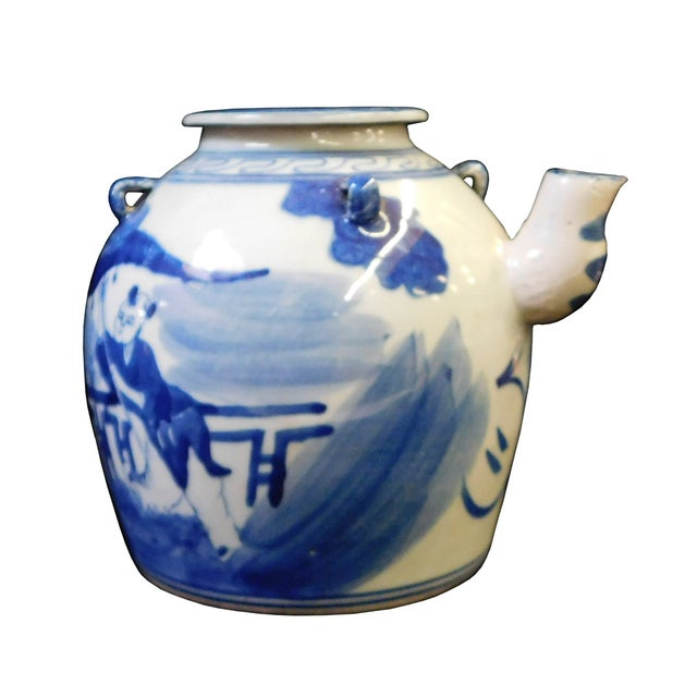 Asian Chinese Blue & White Porcelain Kirin Teapot For Sale - Image 3 of 6
