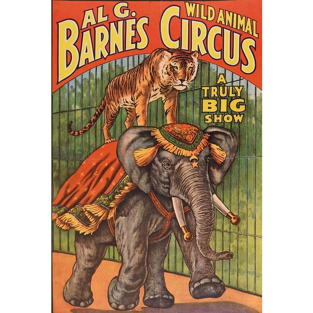 Al G. Barnes Circus Poster, 1960 - Image 1 of 2