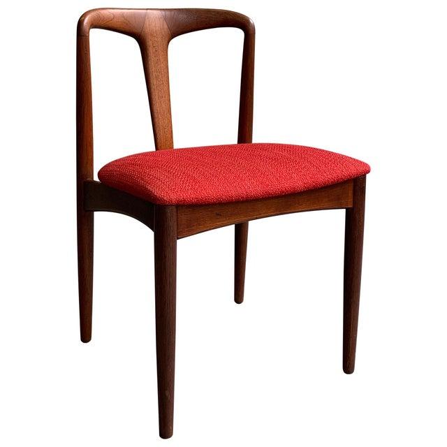 "Vintage Mid Century Danish Modern Teak ""Juliane"" Chair For Sale - Image 10 of 10"