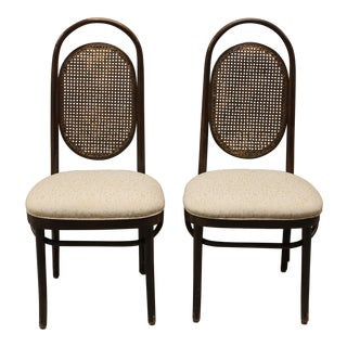 1970's Vintage Thonet Style Bentwood Chairs- A Pair For Sale