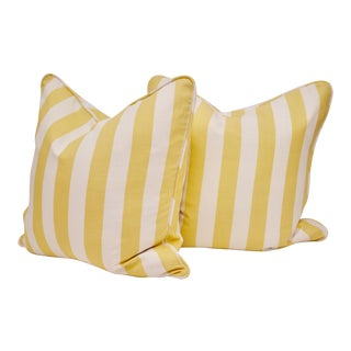 """Bassett McNab Company 20"""" Double Sided Down Feather Pillows - a Pair For Sale"""