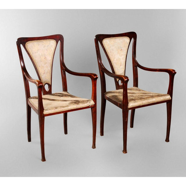 1900s Art & Craft Armchairs England Around 1900 For Sale - Image 5 of 5