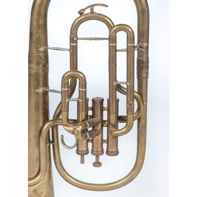 Price Reduced! Toot your horn with this brass, vintage baritone marching horn by Weltklang. Or maybe you'd just like to...