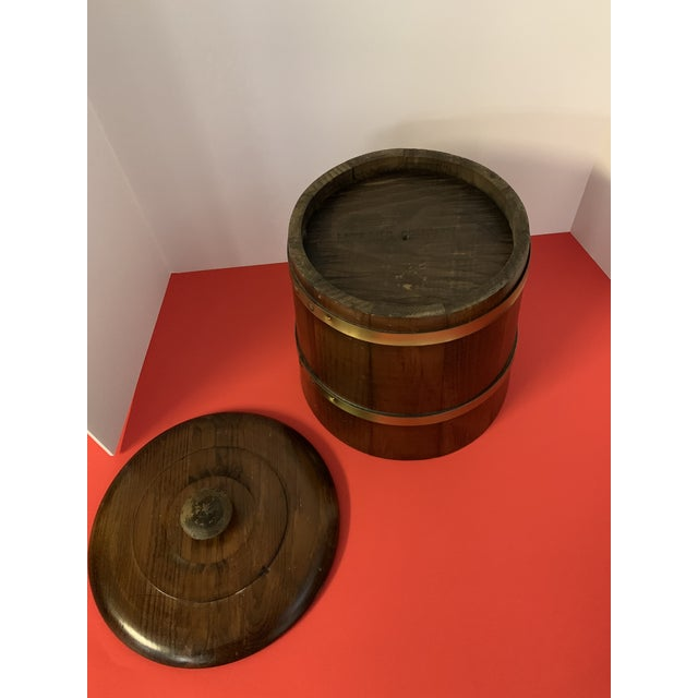 Late 19th Century Late 19th Century Oak Ice Bucket For Sale - Image 5 of 6